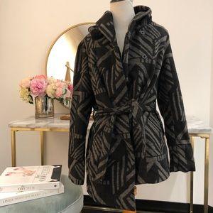 Jackets & Blazers - Faux wool wrap coat